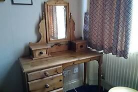Pine desk/dressing table