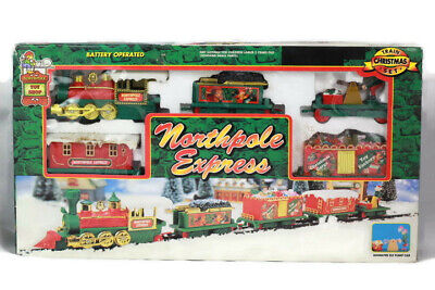 Northpole Express Animated Train Christmas Set Battery Operated 5306