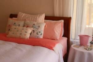 Queen Bed - Frame, Bed, Mattress & 2 bedside Tables