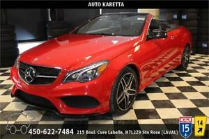 2016 MERCEDES-BENZ E550 CONVERTIBLE/SPORT AMG TECH PACK/NAVI/LED