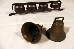Vintage Wagon Bells with Belt Loop & cast iron bells w/Clappers Stratford Kitchener Area image 4