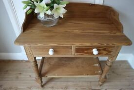 Stunning Old Pitch Pine Washstand - Vintage, Antique