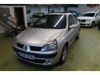 RENAULT CLIO 1.5DCI £30 TAX, 2005, 83131 MILES SERVICE HISTORY, MOT 08/2018