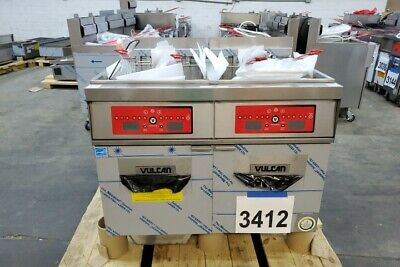 3412 New - Sd Vulcan Electric Double Deep 85 Lbs Fryers Filtration 2er85cf-208