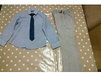 5-6 year old boys smart shirt tie and trousers from next