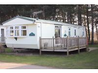 Static caravan mobile home at Pinewoods, Wells-next-the-sea. 2004 Willerby Manor on Premium Pitch
