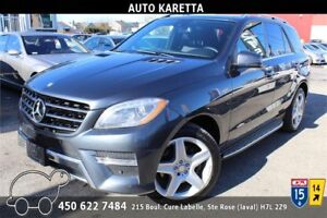 2014 MERCEDES ML350 BLUETEC AWD, NAVI, CAMERA 360, TOIT, XENON..