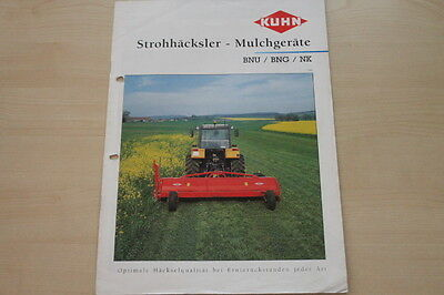157812) Kuhn Strohhäcksler Mulcher BNU BNG NK Prospekt 1995