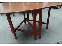 Retro teak bendt winge style dining table