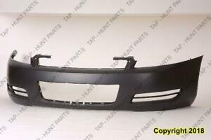 Bumper Front Primed Without Fog Light Hole CAPA Chevrolet Impala 2006-2013