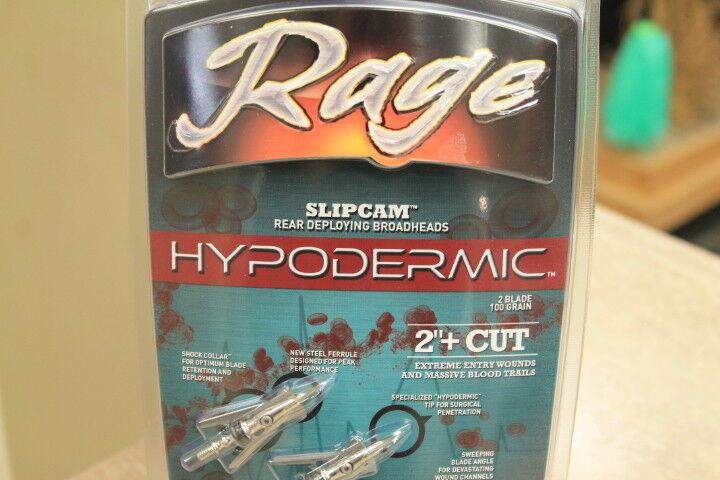 Rage R39100 Slipcam Hypodermic Broadheads Expandable Standard 100 Grain 2