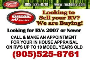 WE Buy USED Towable RV's!