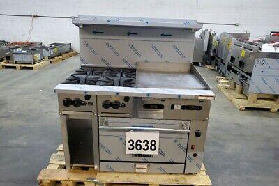 3638 New Sd Vulcan 48 Range 24 Griddle 4-burner Conv. Oven 48cf-4b24gn