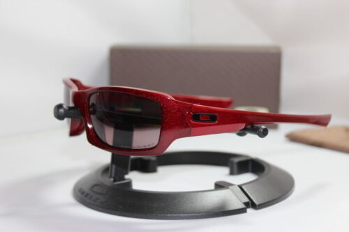 New Oakley Fives Squared Metallic Red/00 Grey Polarized 26-201