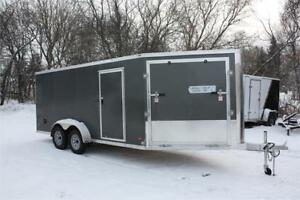Bravo 7X21 Aluminum Enclosed Snowmobile Trailer
