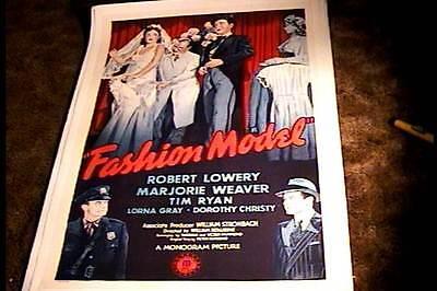 FASHION MODEL ORIG MOVIE POSTER 1945 LINEN MARJORIE WEAVER