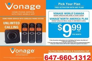 Vonage Home phone $9.99/M with FREE IPTV service..Call6476601312