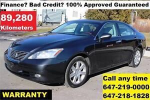 2008 Lexus ES 350 FINANCE 100% APPROVED WARRANTY MINT 89,280 KM