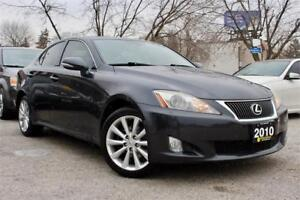 2010 Lexus IS 250 AWD - Accident Free - Nav Pack - Leather - Cer