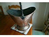 Vintage/Antique log or coal scuttle