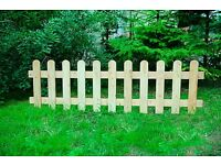 40x9x2 picket style wooden fencing SIBERIAN LARCH