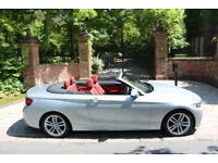 15 PLATE BMW 218i M SPORT CONVERTIBLE 1 OWN 9,236 MILES RED LEATHER STUNNING
