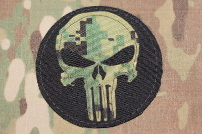 Skull Punisher Multicam Embroidered Tactical Patch Military Morale