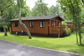 Stunning log cabin/lodge for sale on a pond side pitch at Percy Wood Country Park, Northumberland