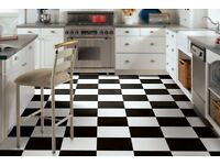 Chequerboard black and white floor tiles-NEW! HALF PRICE!