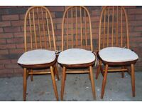 Vintage Retro Mid Century Chairs and pillows