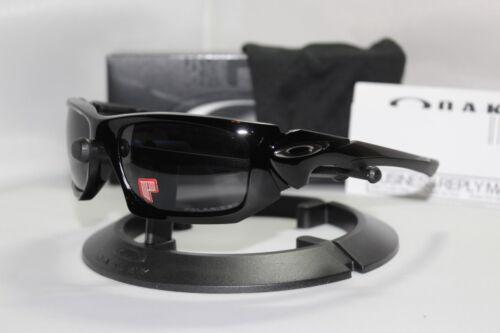 New Oakley Scalpel Polished Black w/Grey Polarized Sunglasses 009095-05