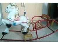 Moby rocking horse
