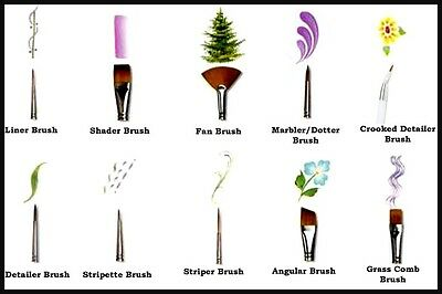 10 types of nail art brushes and how to use them ebay for Types of acrylic paint