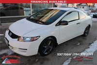 2009 Honda Civic 2 door coupe 5 spd manual  DX 184,000k  $4,900 Winnipeg Manitoba Preview