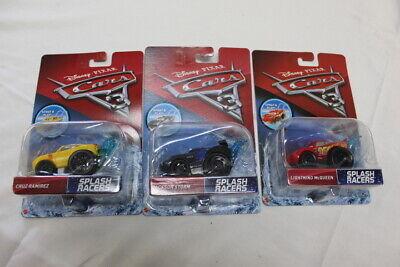 Disney Pixar Cars 3 Splash Racers Fabulous McQueen Lot Of 3