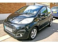 2014 PEUGEOT 107 1.0 ALLURE TOP MODEL NEW SHAPE 24k MILES LIKE FIESTA AYGO CITROEN C1 FIAT 500