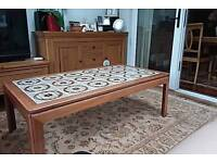 Large tiled top G plan coffee table