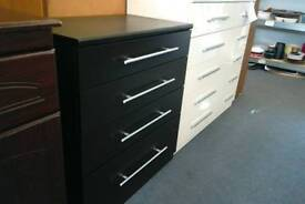Chest of drawers new black