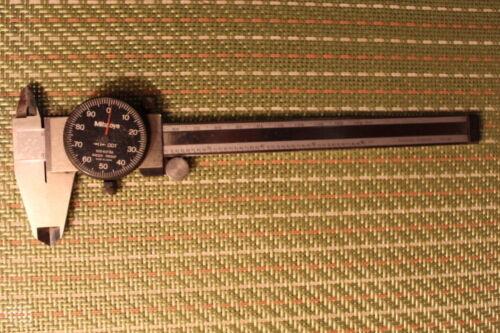 "Mitutoyo 6"" Dial Calipers 505-637-66 Made in Japan"