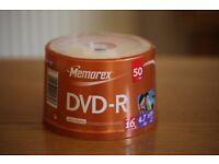 Memorex DVD-R 50 Spindle (new packaged) £5