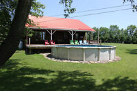 Country Retreat  on 6.11 acres with Pool/Garage & more $309,000