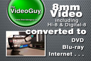 8mm Video Converted to DVD, Blu-ray and Digital Files