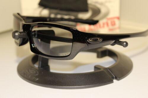 New Oakley Fives 3.0 Metallic Black/Light Grey Polarized 12-757J