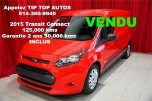"2015 FORD TRANSIT CONNECT XLT 120.6"" (LWB) GARANTIE 2 ANS INCLUS"
