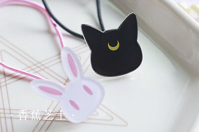 Sailor Moon 20th Anniversary Luna Artemis Diana Cat Head Ties Hair Band Rope 2p