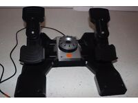 Saitek Pro Flight Rudder Pedals. Very good condition. Fly like a real pilot.