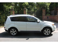 59 PLATE MITSUBISHI OUTLANDER 2.0 DID GSE 7 SEATS WHITE LEATHER REAR DVD