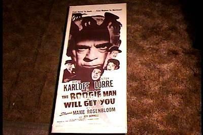 BOOGIE MAN WILL GET YOU R48 INSERT 14X36 MOVIE POSTER BORIS KARLOFF PETER LORRE](Boogie Man Movie)