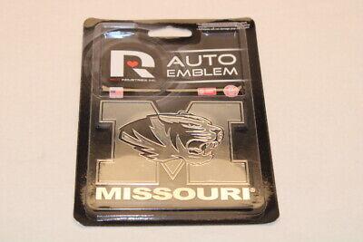MIZZOU University of Missouri Tigers Chrome Hard Plastic Durable Auto Emblem  Tigers Chrome Auto Emblem