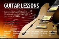 Guitar and bass lessons.